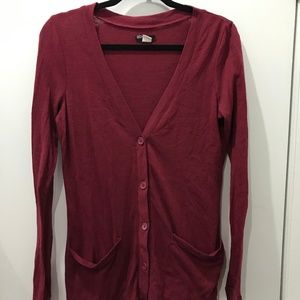 BDG Cardigan in Maroon | Urban Outfitters